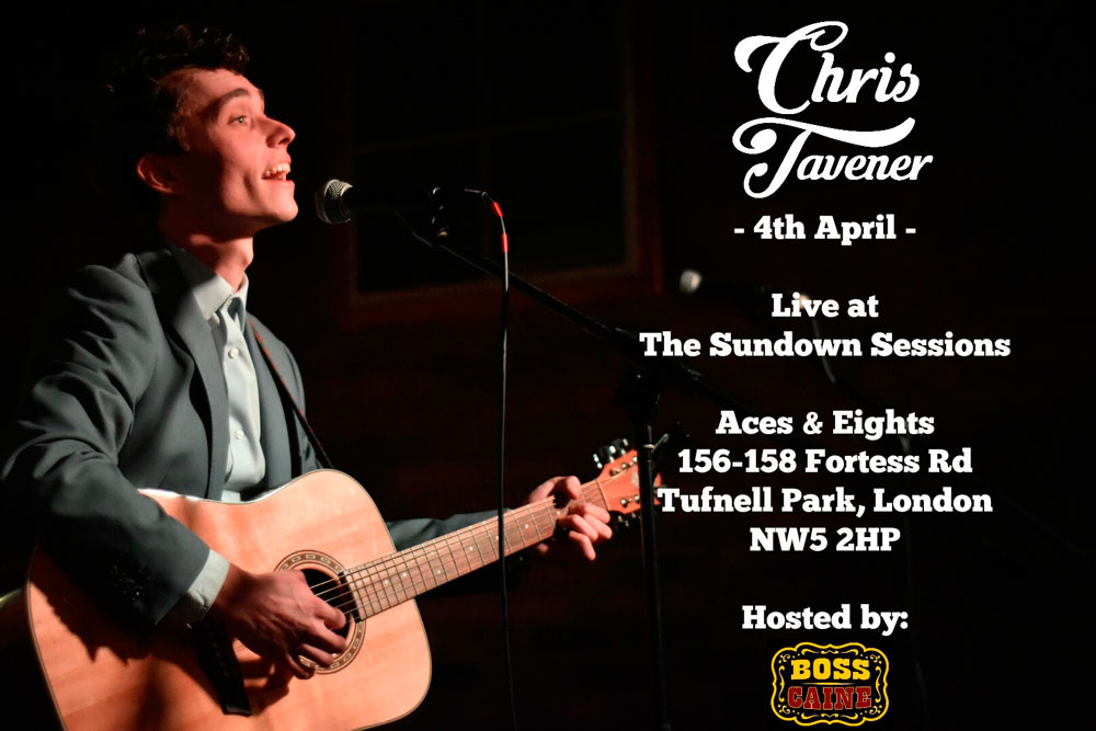 Chris Tavener Live In London alongside acoustic music artists