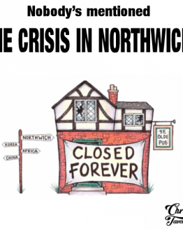 Chris Tavener's The Crisis In Northwich Lyric T-Shirt