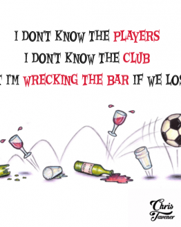 Chris Tavener's Wrecking The Bar Lyric T-Shirt
