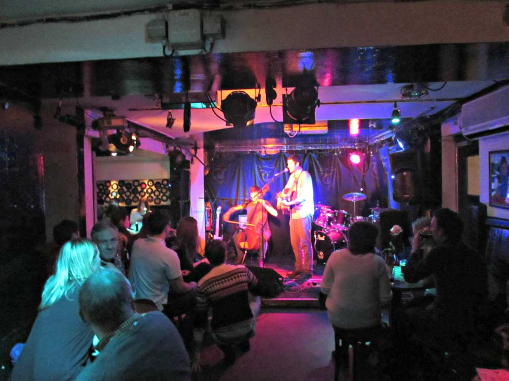 The Troubadour Acoustic Night in Earl's Court, London.