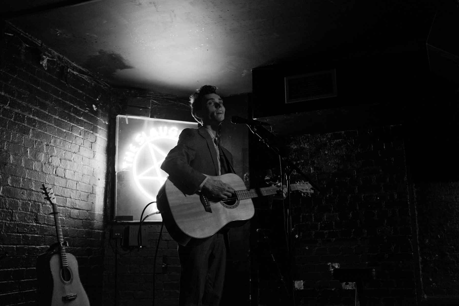 Chris Tavener Performing at The Slaughtered Lamb. Photo by Jack Stanley