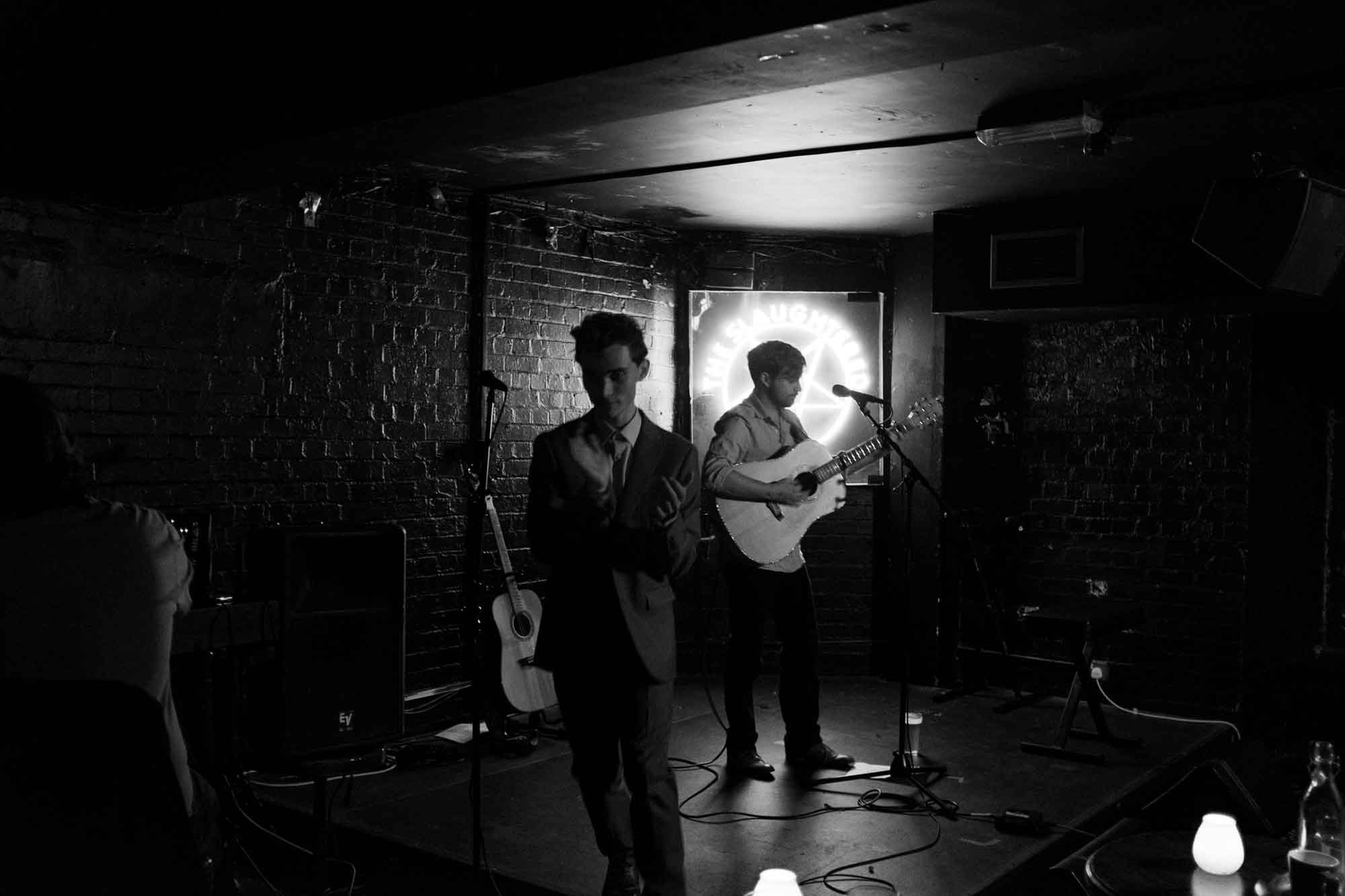 Introducing Thom Morecroft on Stage. Photo by Jack Stanley