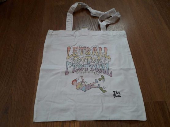 Grab A Festival Bag For The Summer - http://www.christavener.co.uk/product/lets-all-go-to-a-festival-tote-bag/