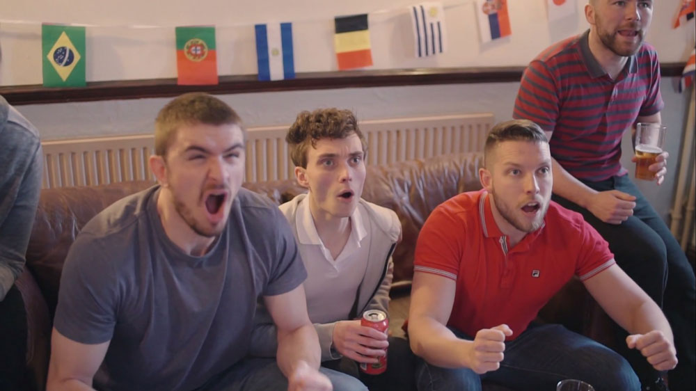 Still From 'Wrecking The Bar' - The England Hooligans Prepare To Be Disappointed